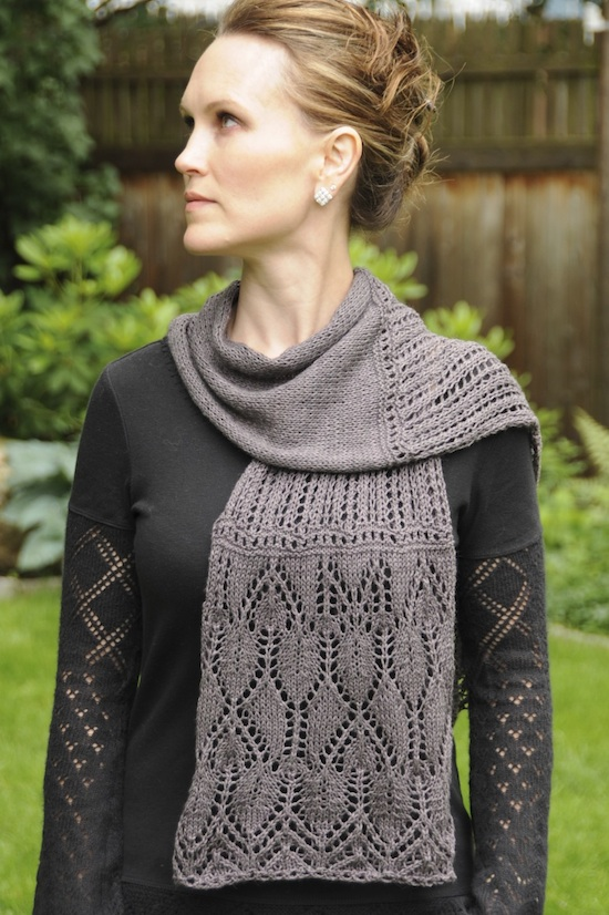 weeping cherry scarf pattern