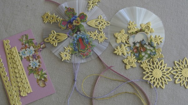 Victorian Easter paper craft supplies