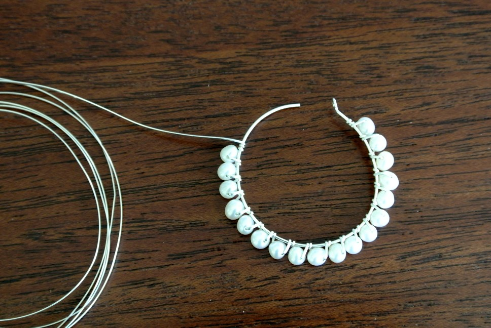 Beaded Earring Tutorial - How to Make Beaded Hoop Earrings