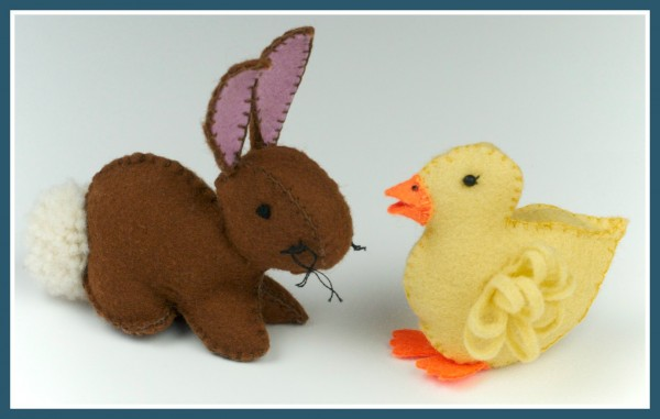 Felt Duck and Bunny