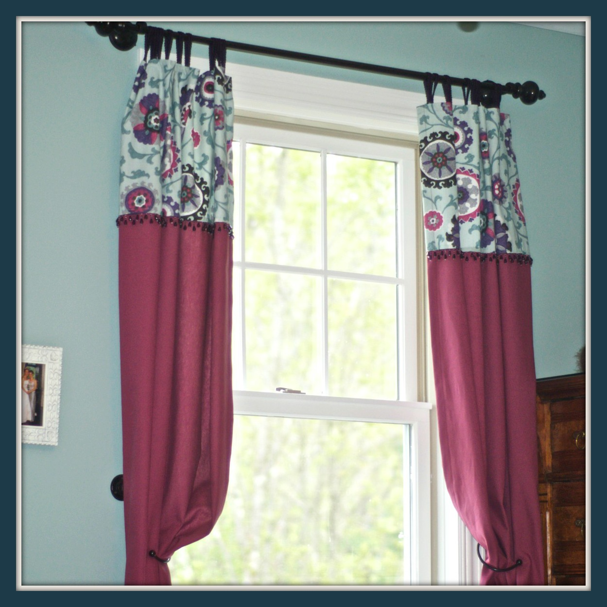 How To Sew Curtains With Two Fabrics And Detailing